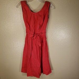 305a5b3a81a Dresses - Kookai Red Linen Dress size sm med